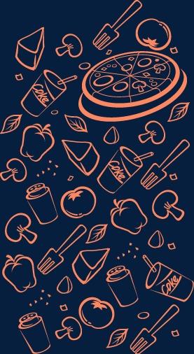 卡通手绘食物