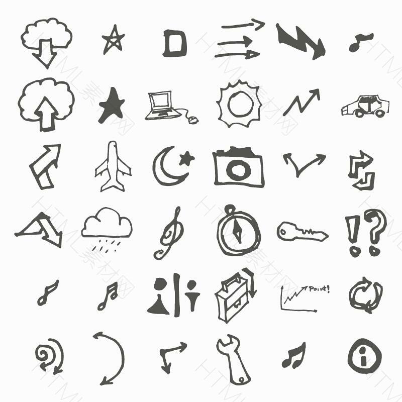 个性创意手绘生活图标素材AI下载.jpg