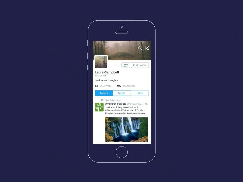 iOS Twitter Mockup Sketch Resource