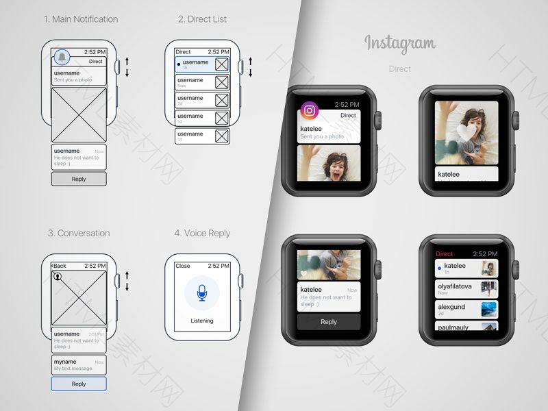instadirect-wireframe-and-ui
