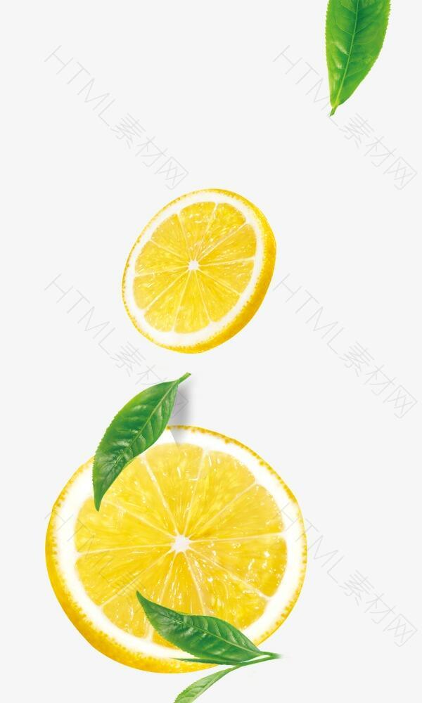 柠檬片和茶叶