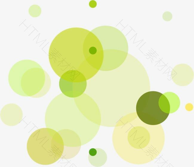 绿色圆点漂浮