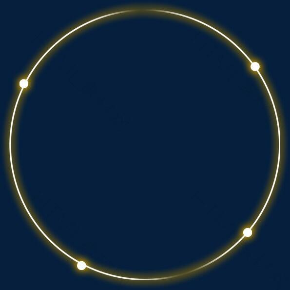 圆环 线条 金色炫光
