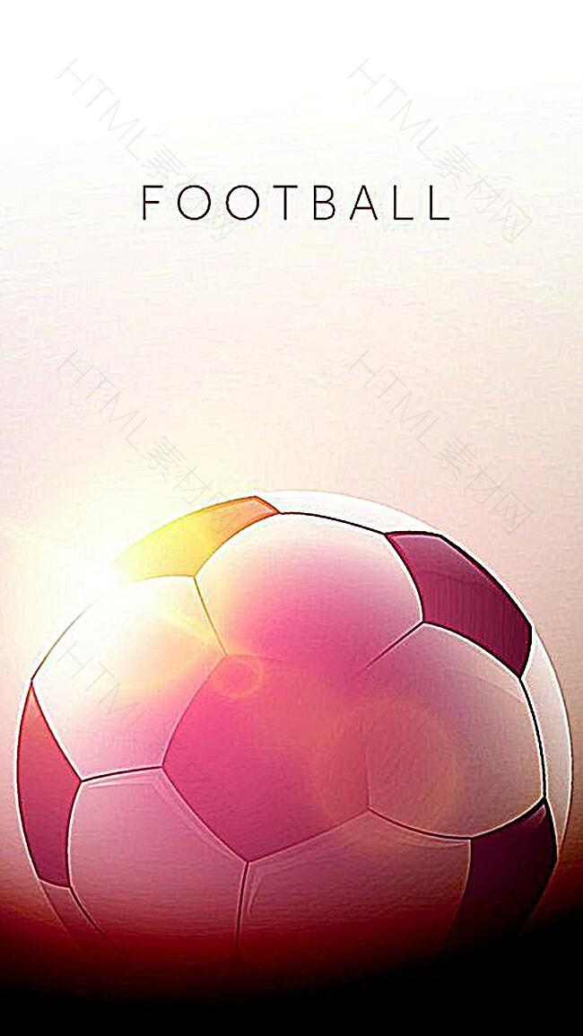 黄昏阳光下的足球图案背景图