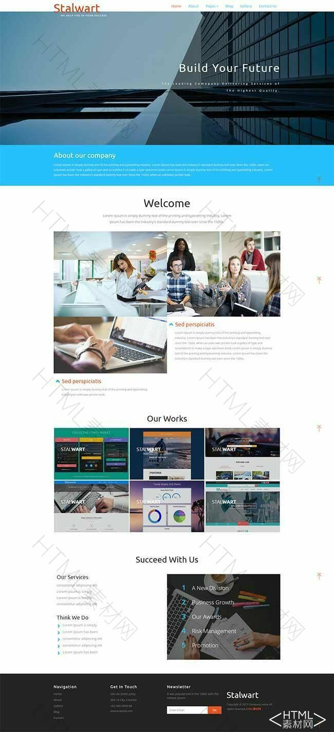 蓝色宽屏html5公司网站模板下载.jpg