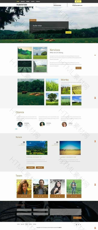 绿色园艺丰收农场响应式html5网站模板.jpg
