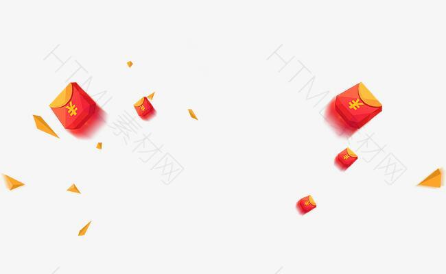 喜庆漂浮红包庆祝新年