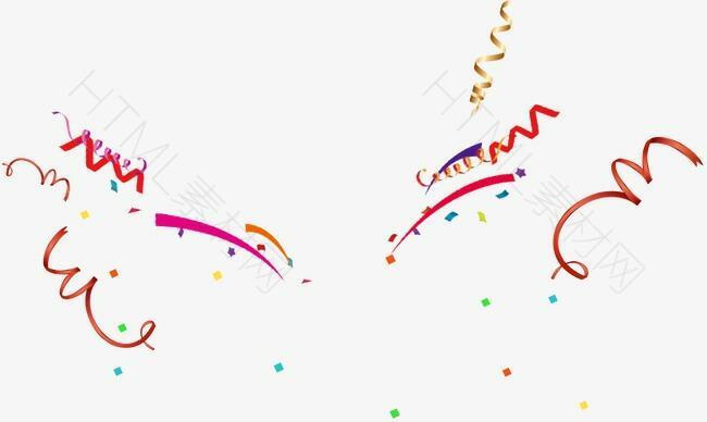 彩带漂浮图案