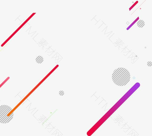 几何彩色线条漂浮