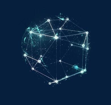 发光几何立体图形