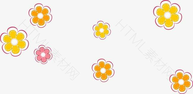 卡通圆形小花