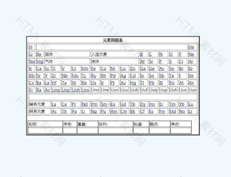 js生成化学元素周期表格代码.jpg