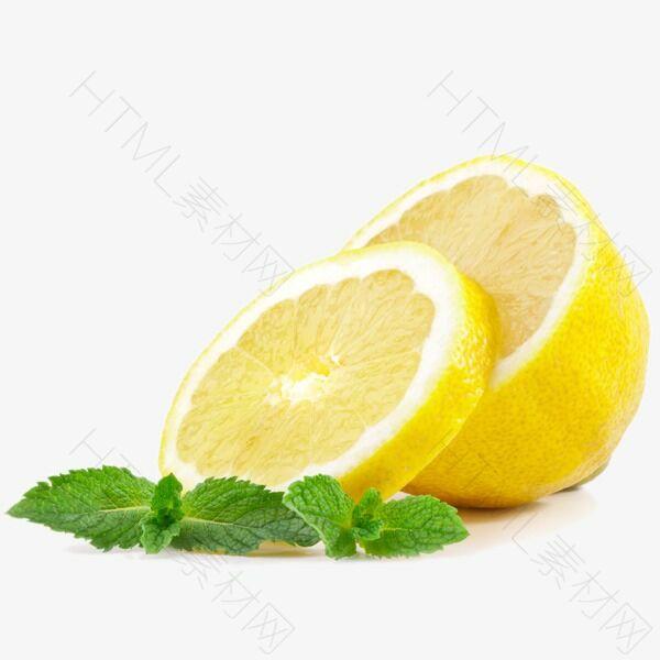 黄色柠檬切片高清装饰
