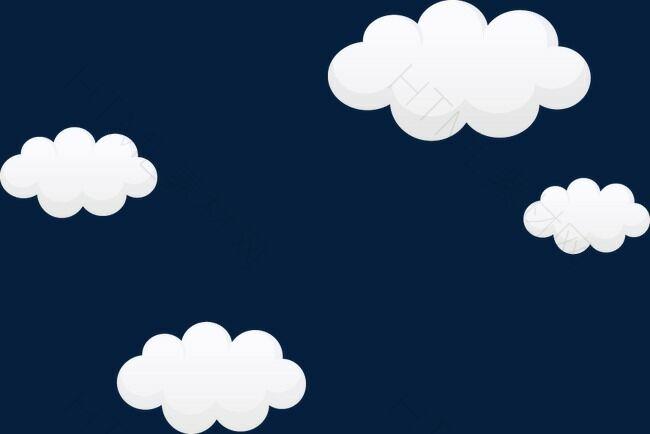 卡通唯美白云