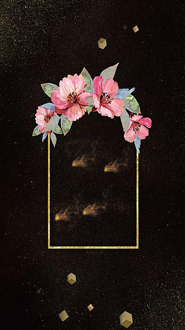 黑色炫酷花朵H5背景素材