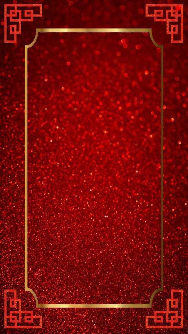 红色质感H5边框背景psd分层下载