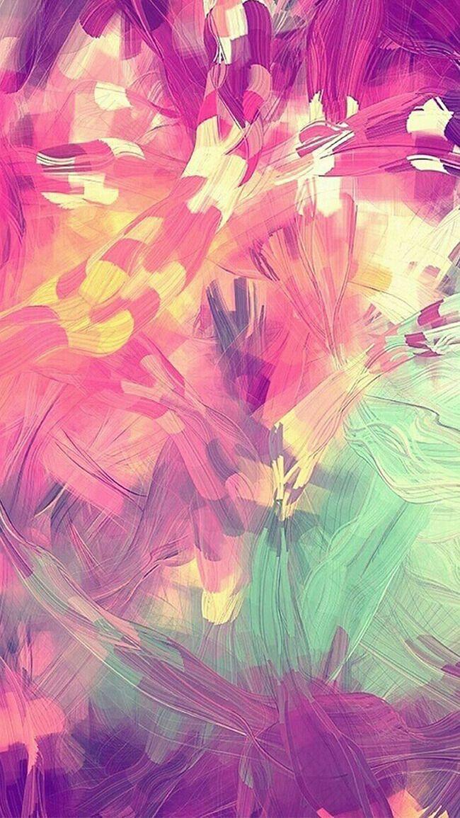 千库网—纹理笔触油画笔触粉紫色H5背景素