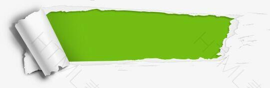 绿色撕纸效果标签