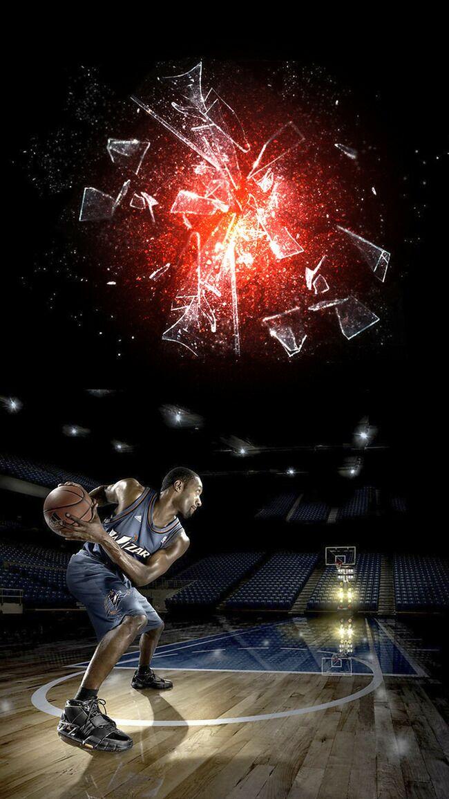 黑色动感篮球比赛PSD分层H5背景素材