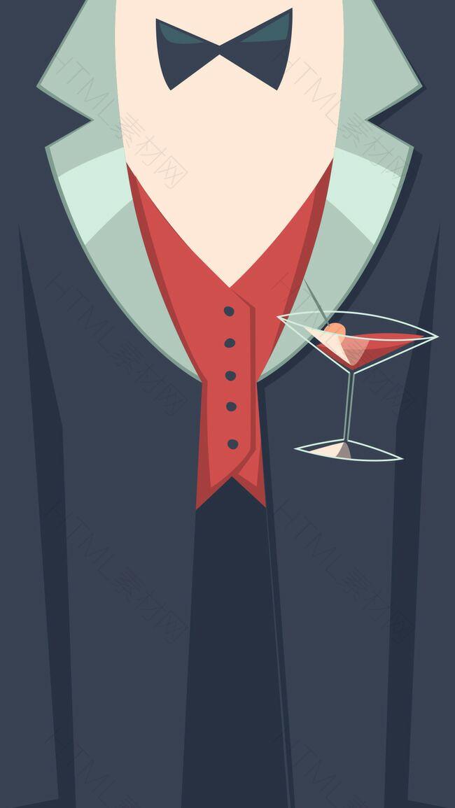 复古鸡尾酒party海报