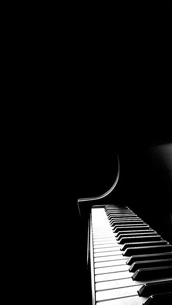 黑色钢琴H5背景图片