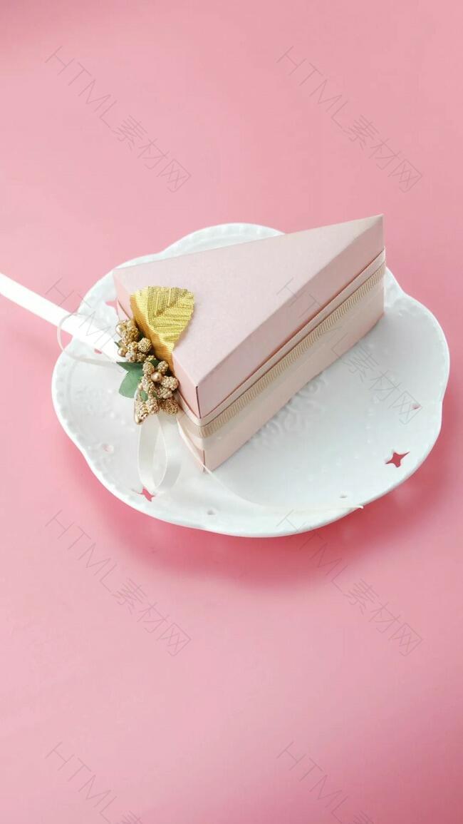 粉色简约甜品摄影H5背景