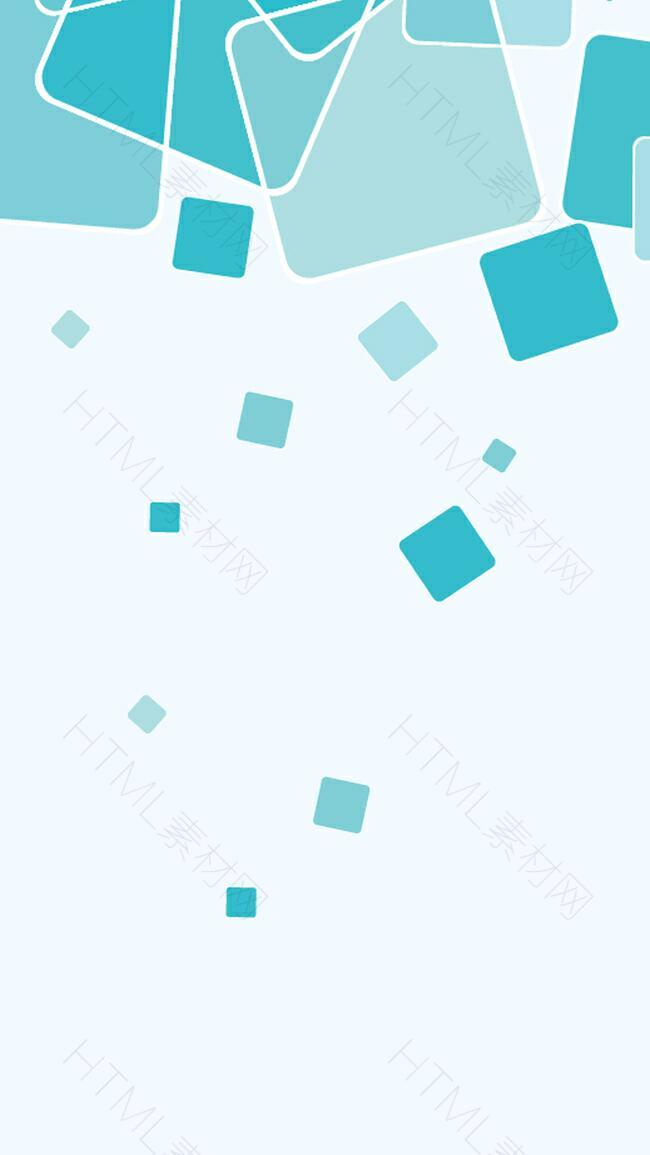 蓝色几何科技企业H5分层背景