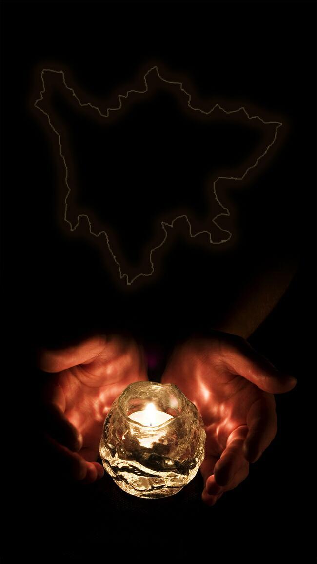 商务点燃蜡烛H5背景