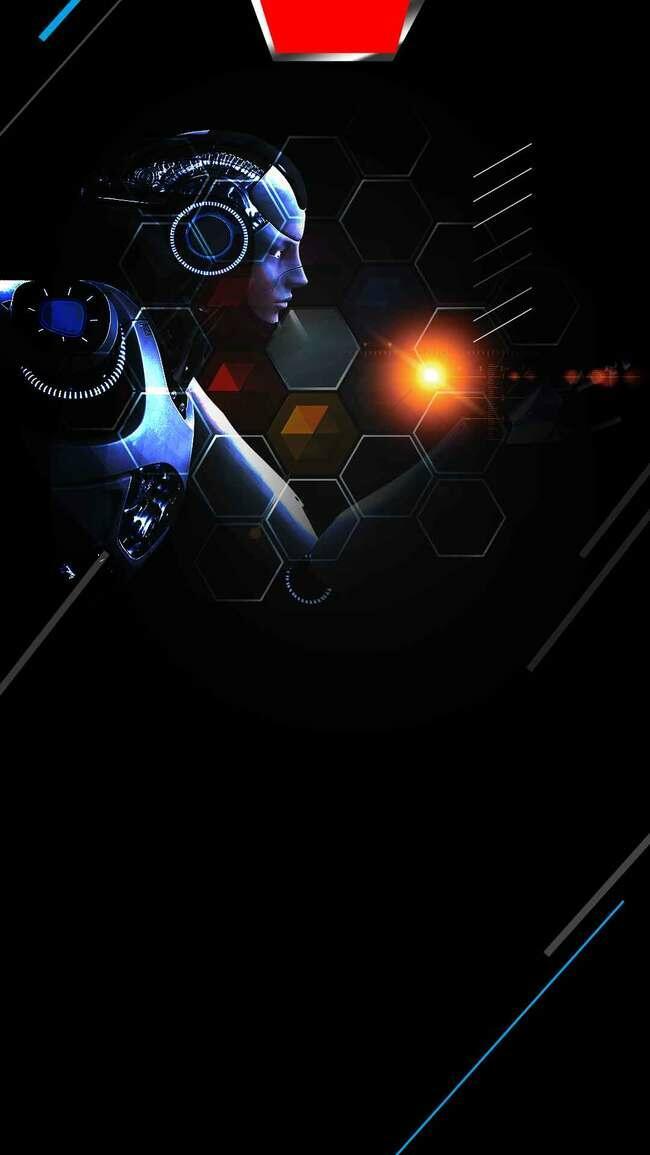 人工智能机器人科技H5背景素材