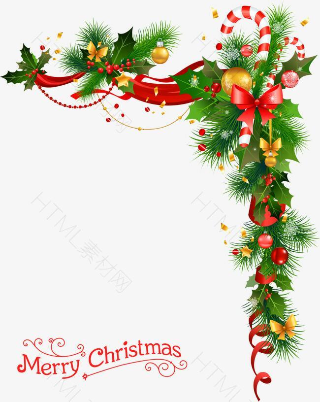 圣诞节花环与铃铛
