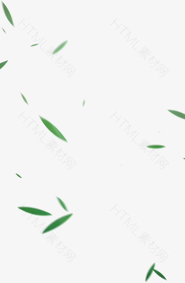 中式绿色竹叶端午元素