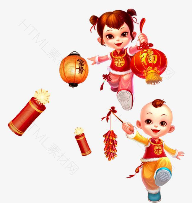 新年福娃提灯笼淘宝装饰