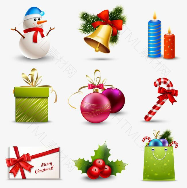 9款圣诞节礼物元素