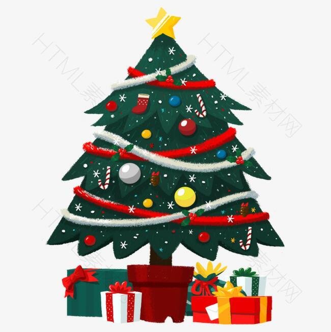 圣诞节圣诞树免抠素材