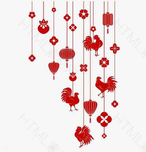 鸡年红色小挂饰