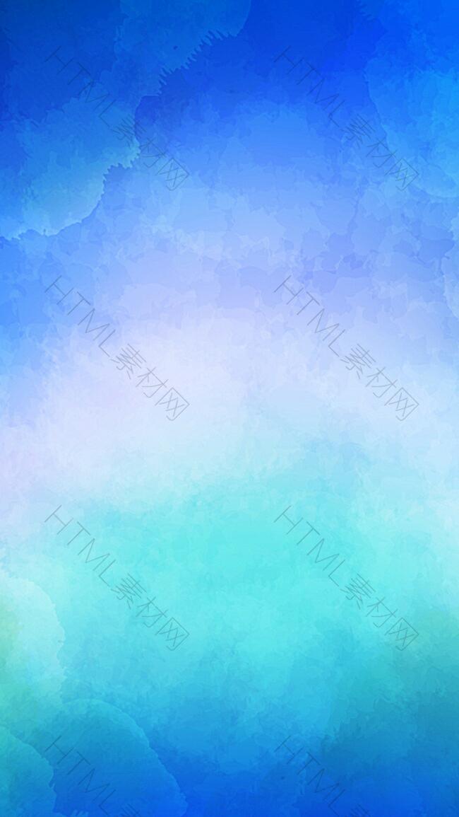 蓝色光晕水彩矢量图源文件H5背景