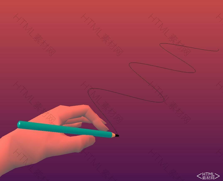 html5 canvas手绘制的正弦波动画特效.jpg