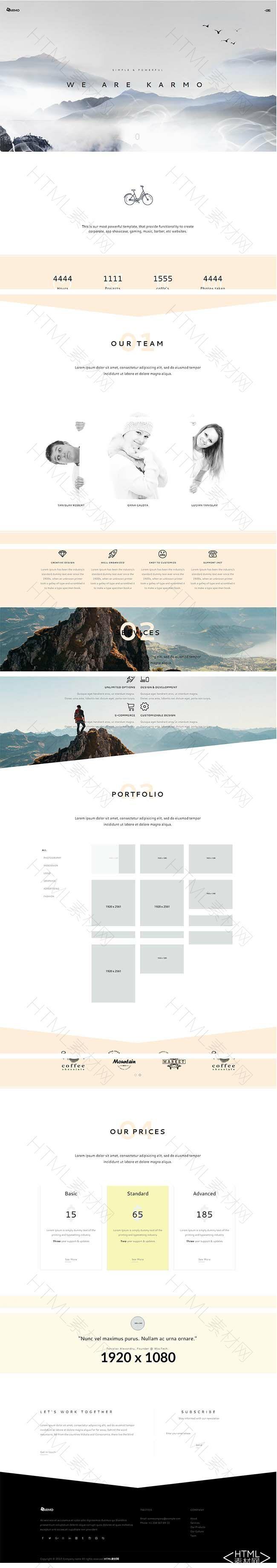 简洁扁平水墨焦点图风格网站响应式模板.jpg
