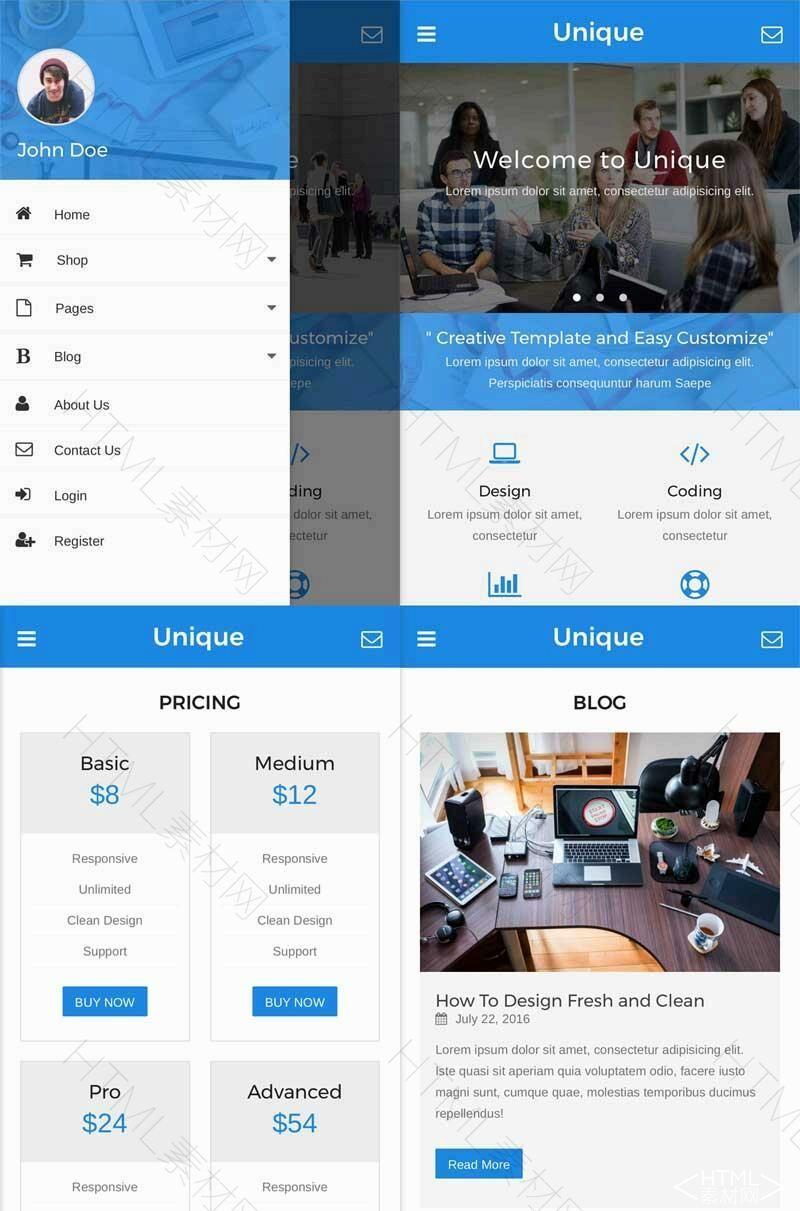 蓝色通用的企业图片展示网站wap响应式模板.jpg