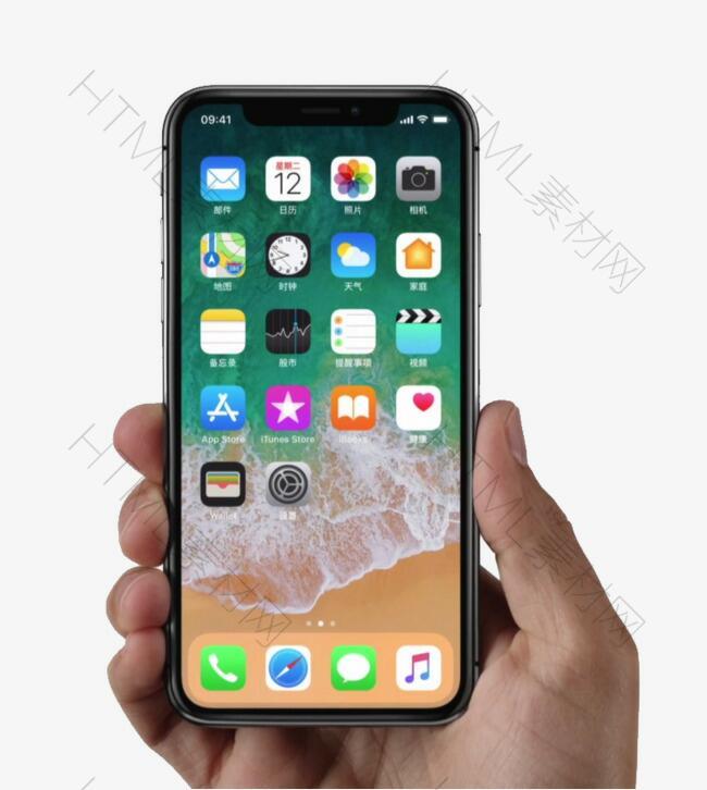 iPhone X手持图