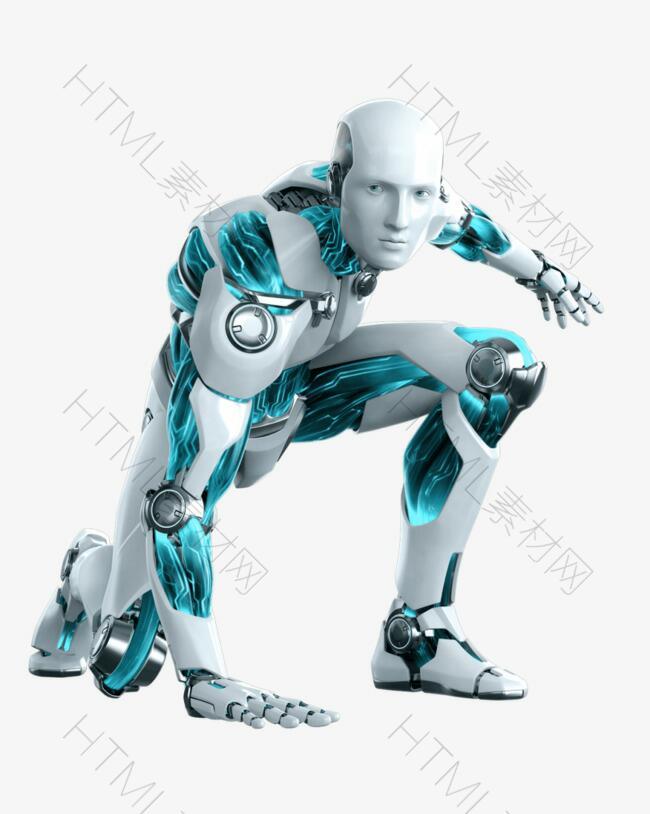蓝色的机器人