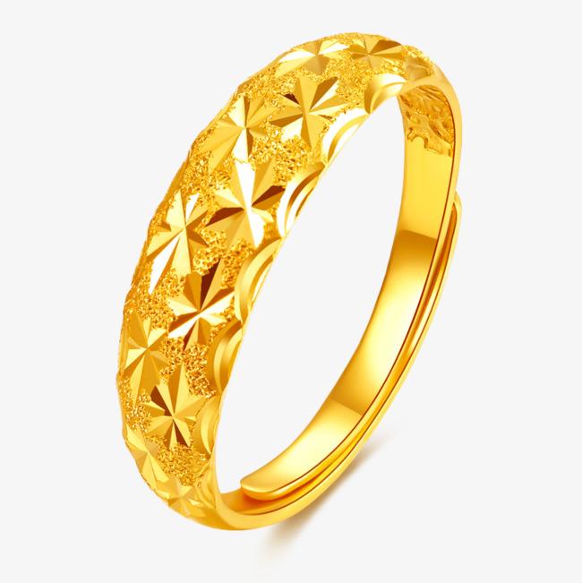 黄金指环戒指金饰品