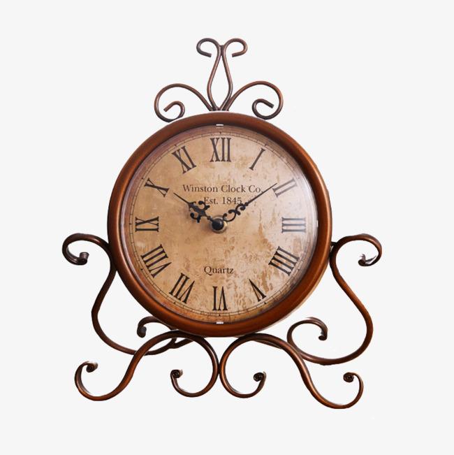 美式复古铁艺钟表摆设