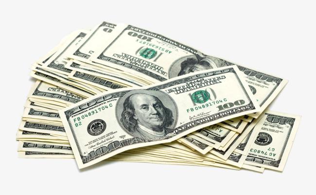 一叠美元 钞票
