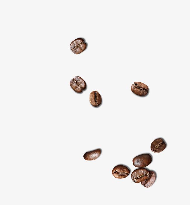 散布的咖啡豆