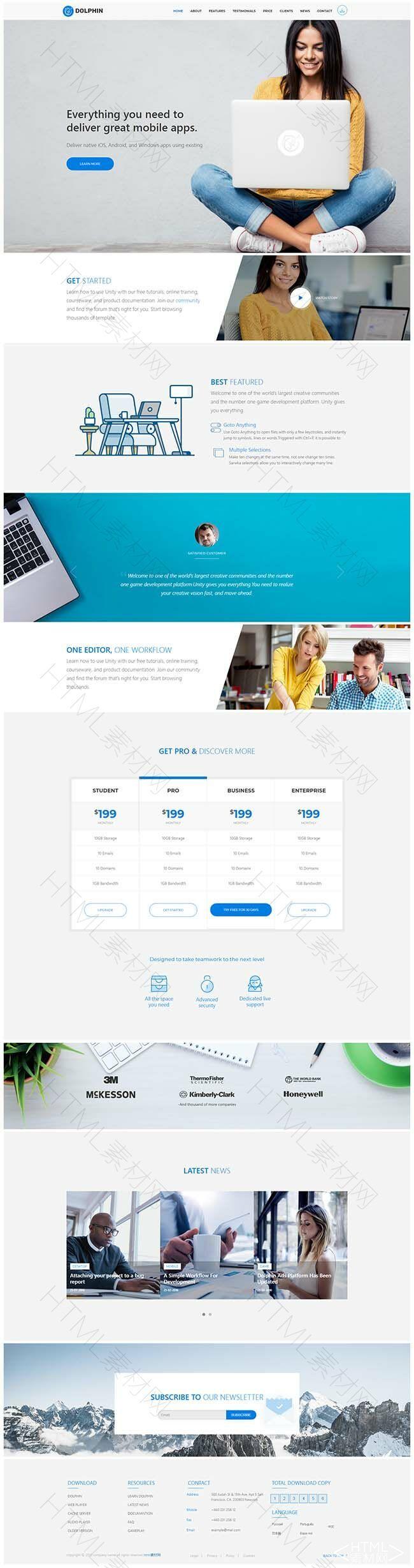 商务蓝色大气简洁的互联网科技公司网站模板.jpg