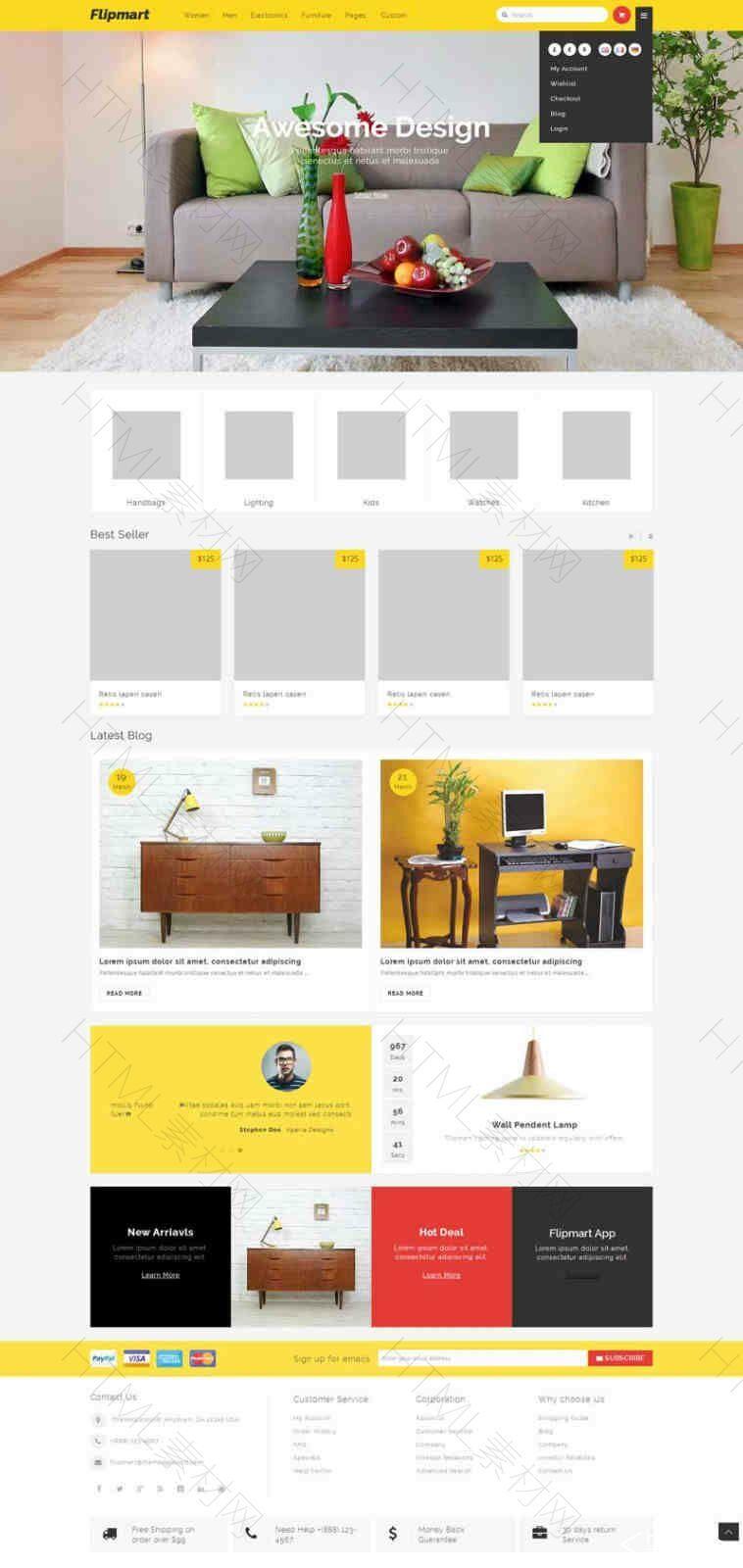 通用大气的网上家具零售商城网页模板.jpg