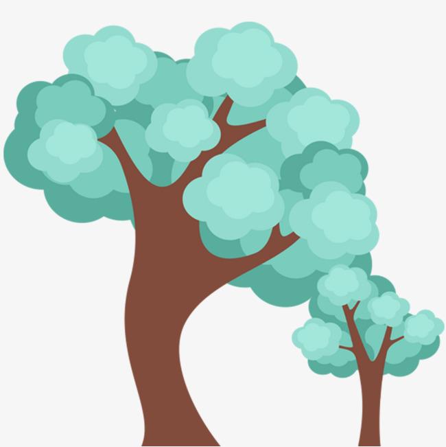 春天植树节卡通树木