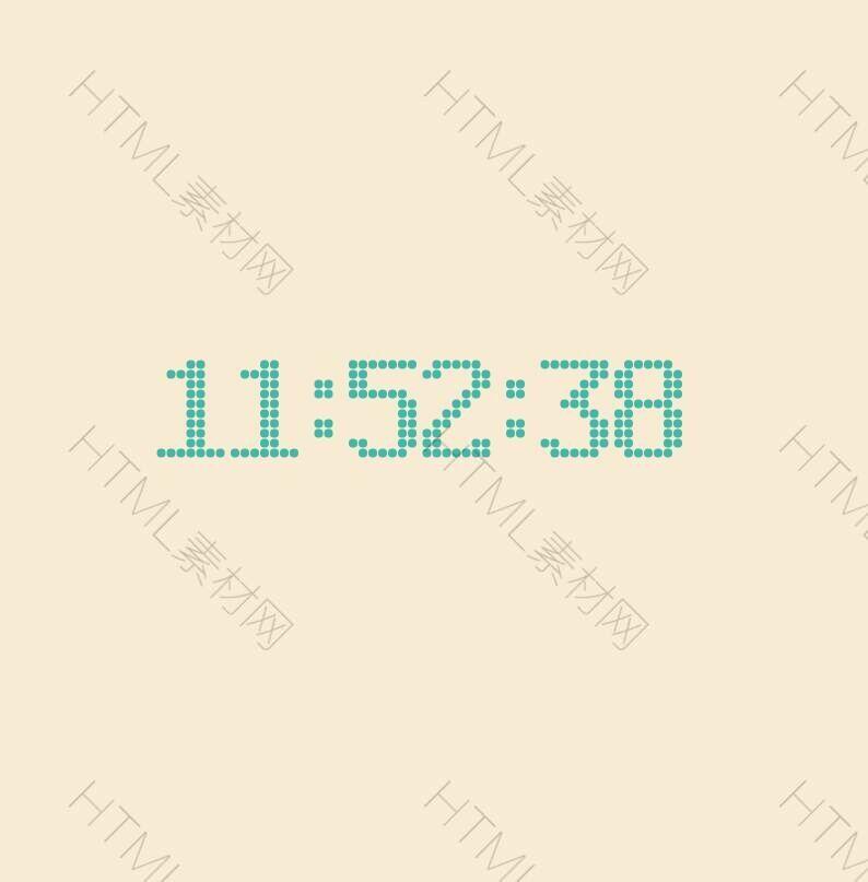 html5 canvas画布点阵时钟代码.jpg