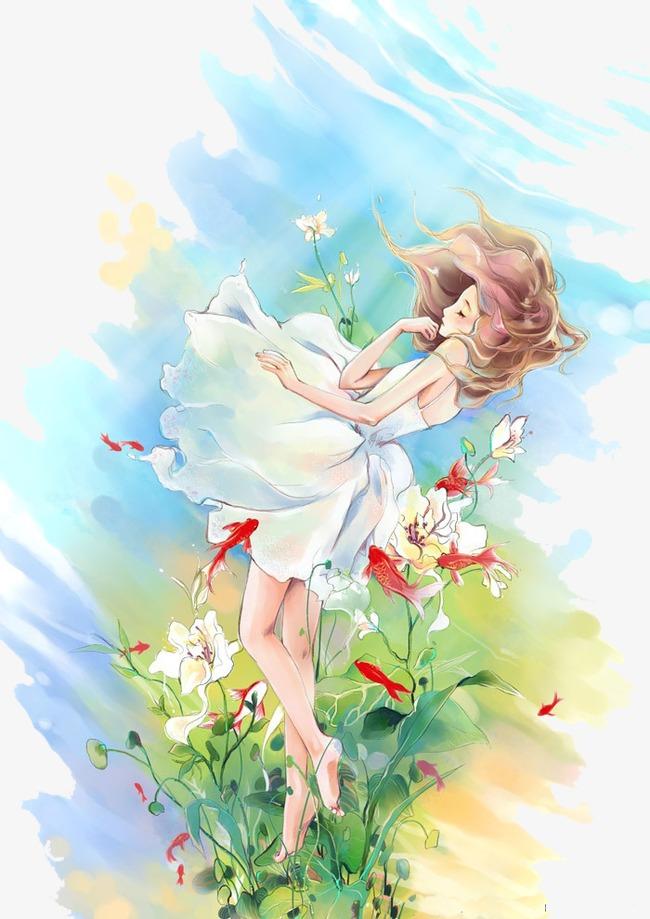 花中的美少女